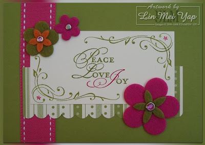 Card made with Supplies from Stampin' Up! Summer Mini and Sale-A-Bration stamp set