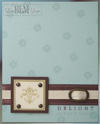 Stampin' Up! Simply Sent Simple Delights Card
