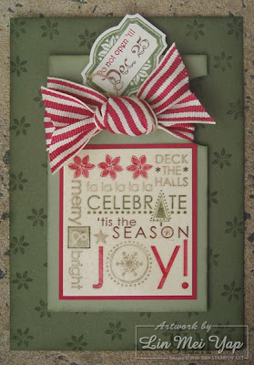 Card made using Stampin' Up! supplies
