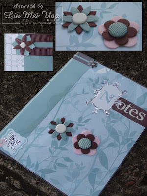 Notebook for Bonny using Stampin' Up! supplies