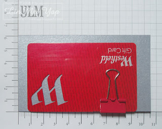 Clip the gift card to the cardstock