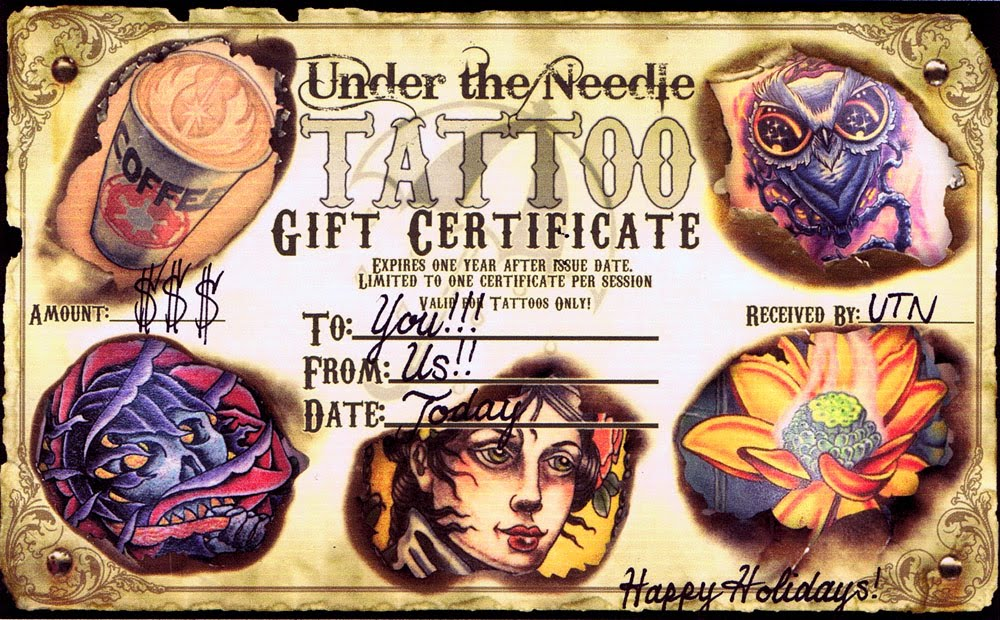 tattoo gift certificate template - certificate template tattoo pictures to pin on pinterest