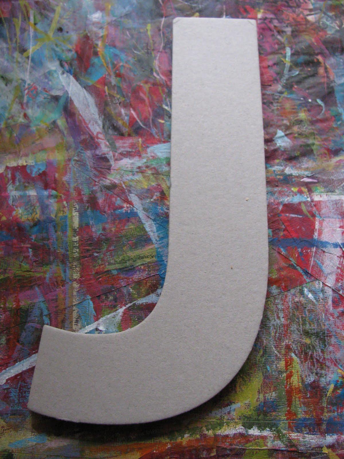 julie decoupage letters