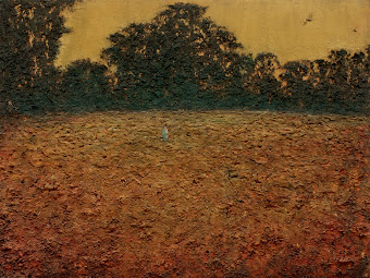 Figure in a Golden field 36''x 48""
