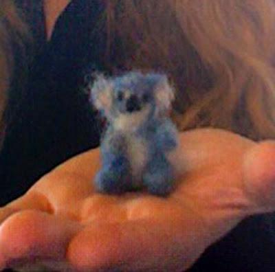 tiny felt koala