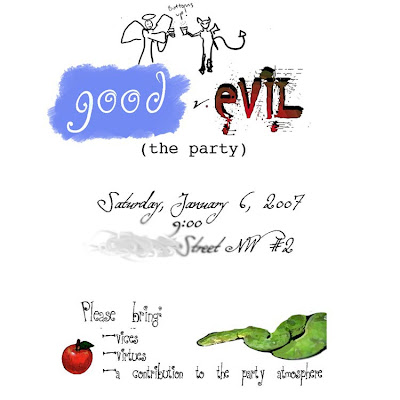 invitation to the Good v. Evil party