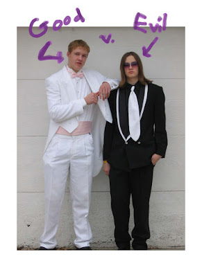 these are two of my brothers in their actual prom outfits