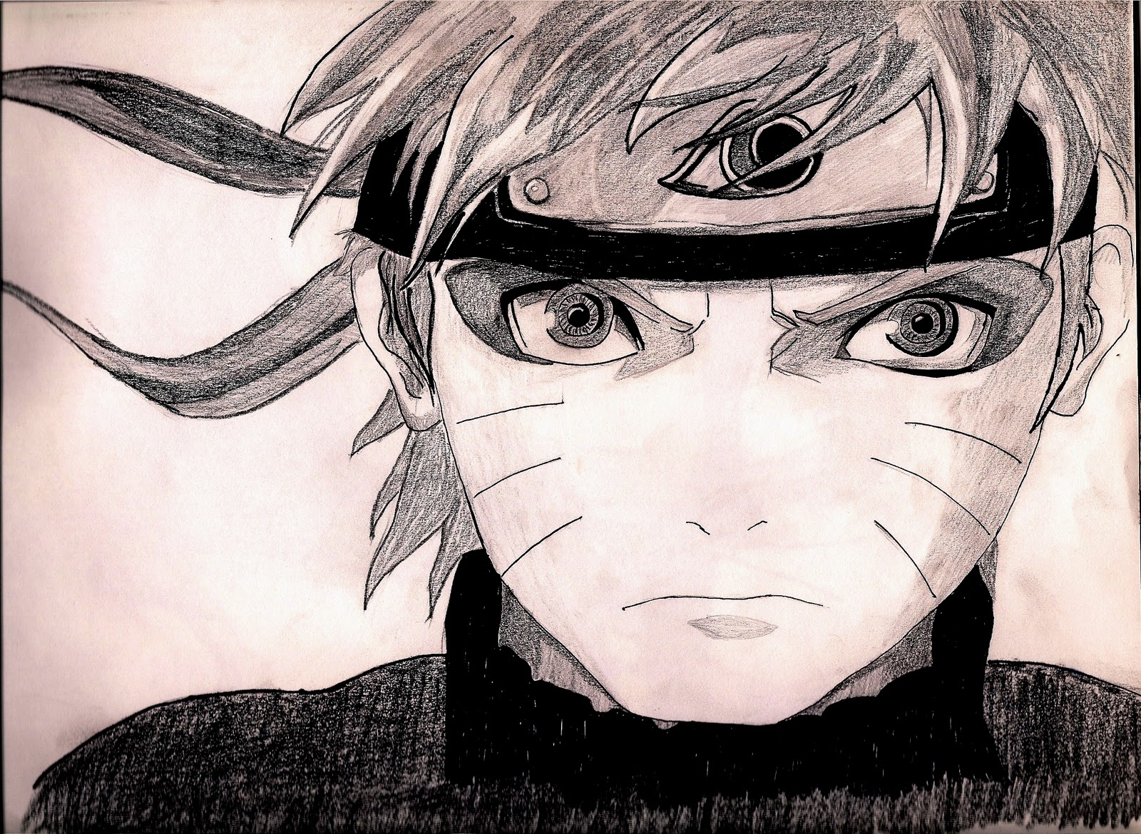 how to draw naruto shippuden sage mode