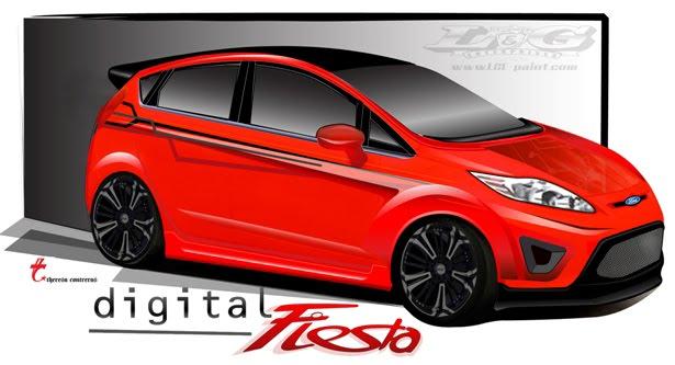 2010 SEMA Ford Fiestas