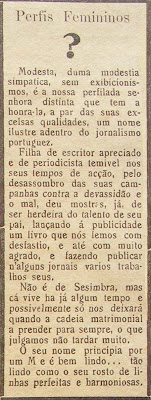 notícia do jornal 'O Sesimbrense' - 1936