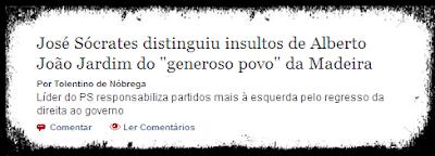 notícia do jornal Público