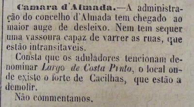Notícia de O Século de 2 Março 1884