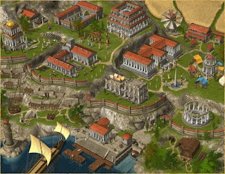 Grepolis town buildings level 3 with thermal and oracle
