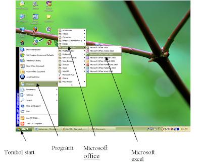Jendela Aplikasi Excel akan terbuka, seperti berikut :