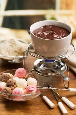 receita de fondue de sorvete