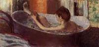 Edgar Degas, Woman in a bath sponging her leg, 1883 - 1884