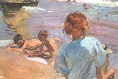 Sorolla, Niños en la playa, 1916
