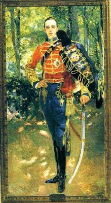 Sorolla, Retrato de Alfonso XIII con uniforme de husar, 1907