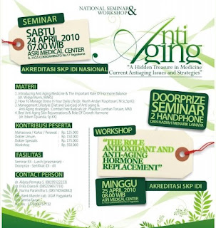 "SEMINAR NASIONAL & WORKSHOP ""ANTI AGING"""