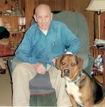 Ranger Copeland with Bernie, 'his last dog.'