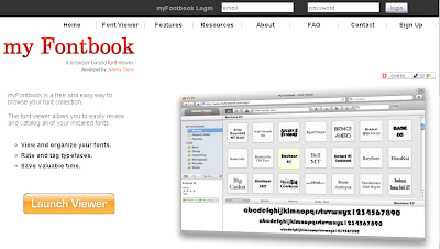 Websites: My FontBook