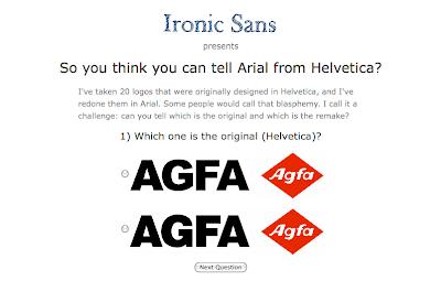 Quiz: Arial ou Helvetica?