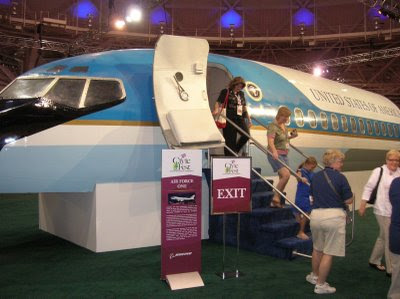 Tourists deplane from Air Force One at CivicFest (photo: North Star Liberty)