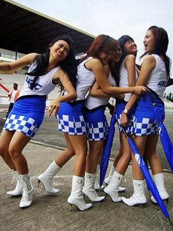 The MotoGP Umbrella Girl