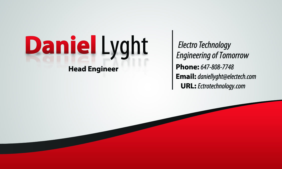 Dlyght slick business cards example for Example of a business card