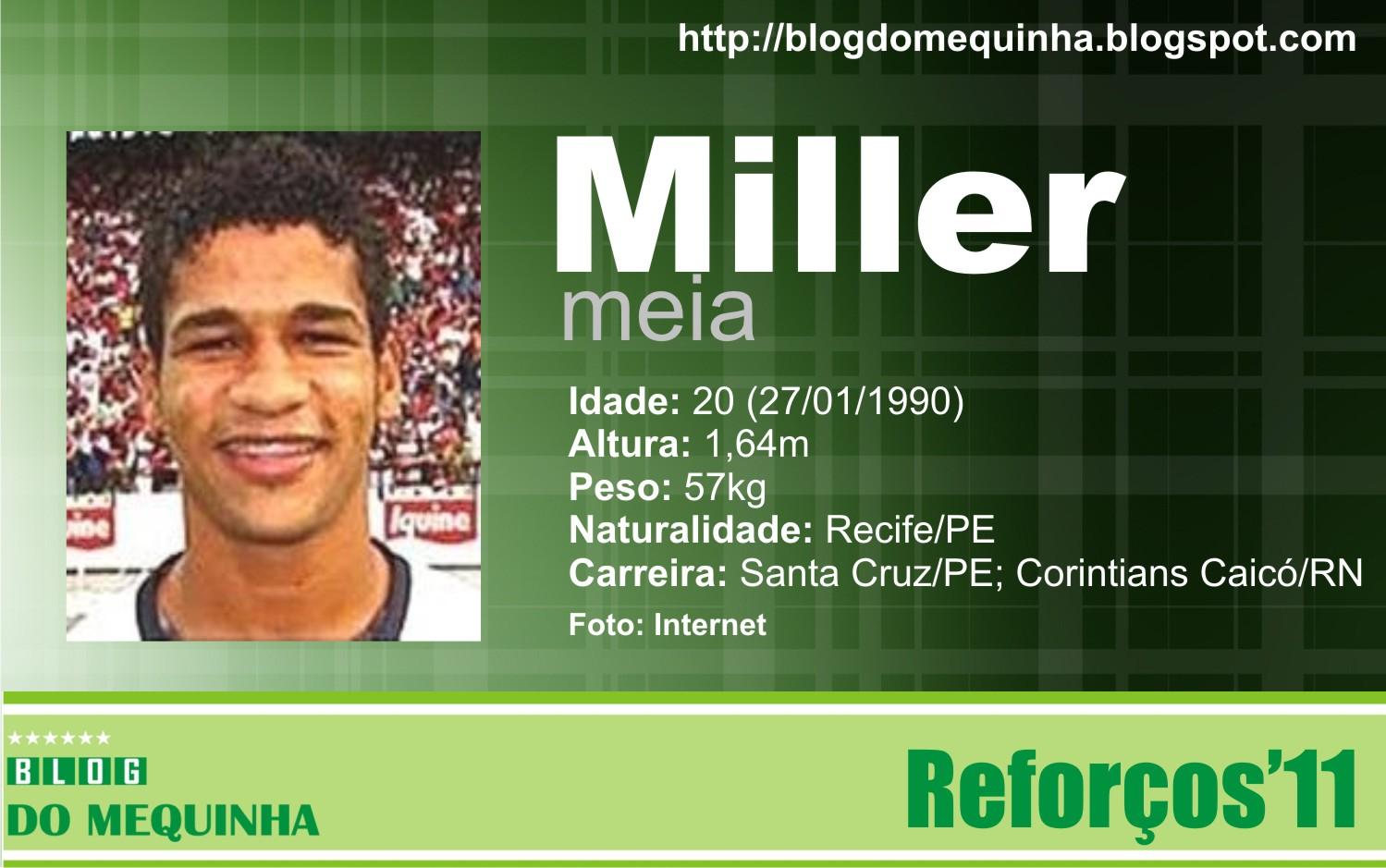 Miller é o primeiro atleta contratado para o Pernambucano 2011