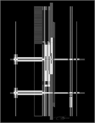 intersection of bars and grids