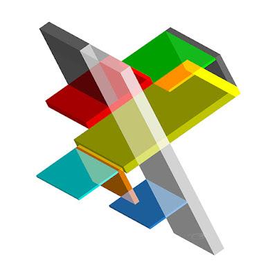 Isometrics 2+dimensional+3d+art+geometric+wall art+isometric+transparent+illusion