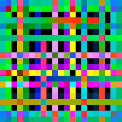 Square Circles+art+geometric+color+grid