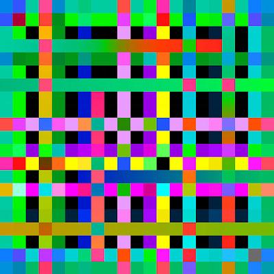 Square Circles+art+geometric+color+grid