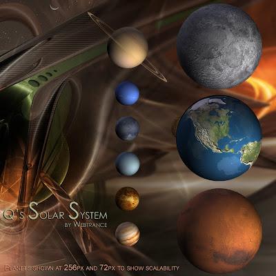 QS Solar System iconos rocketdock objectdock pepua personalizacion