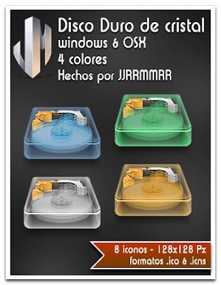 pepua personalizacion disco duro cristal iconos dock descarga