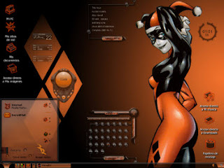 Tema Harley Queen Windowblinds objectdock rocketdock iconos y widgets