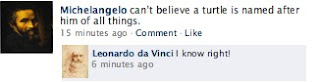 Michelangelo Facebook Status