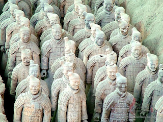 Where are the terracotta warriors located