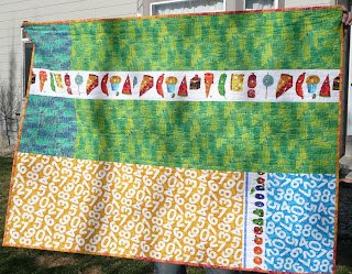 hungry caterpillar quilt