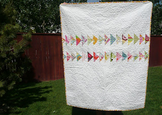 wonky triangle quilt