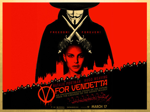 v for vendetta wallpaper. Movie review: quot;V for Vendettaquot;