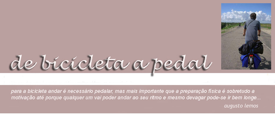 DE BICICLETA A PEDAL