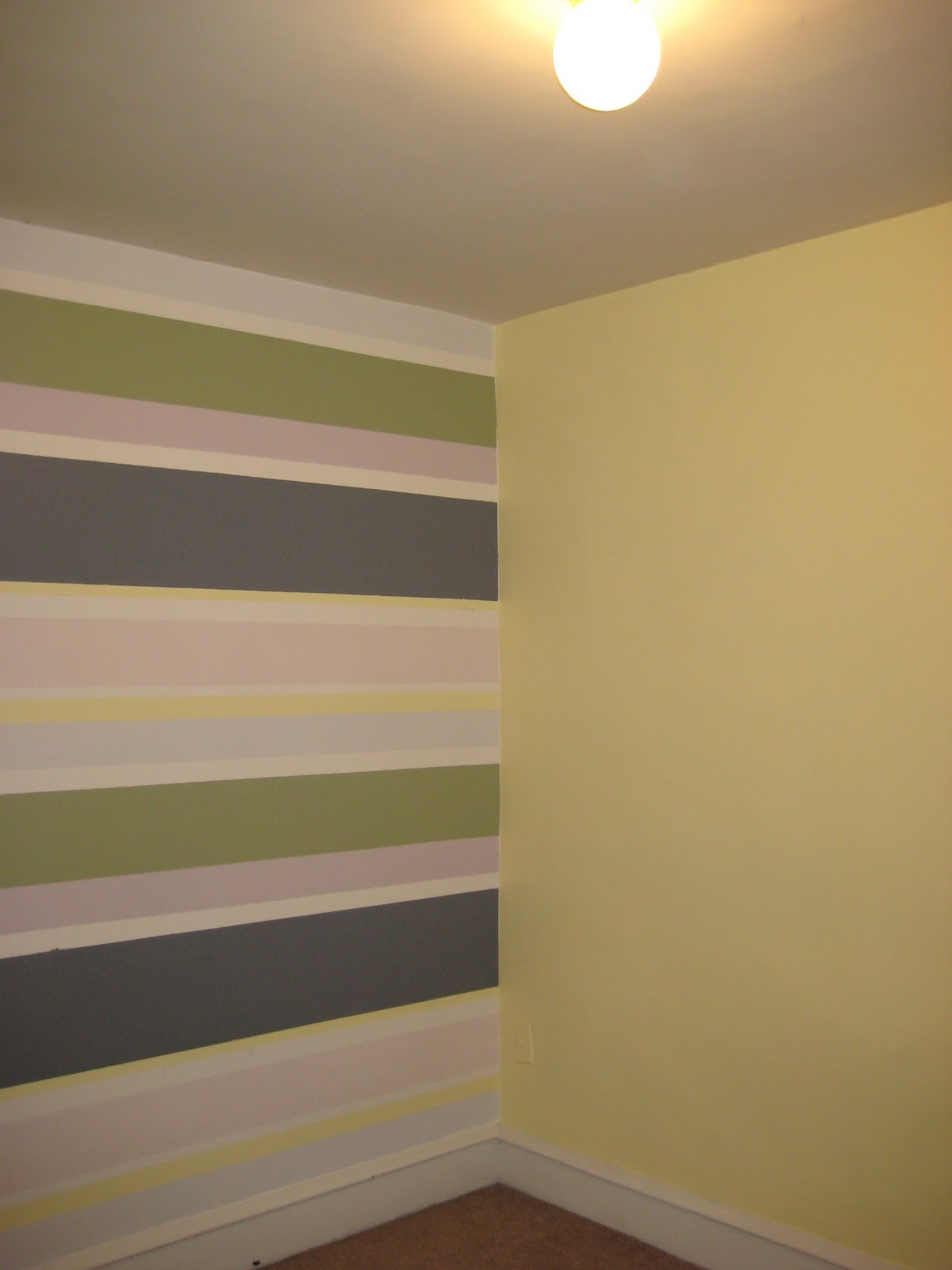 Oh what fun nursery stripes for Accent stripe wall