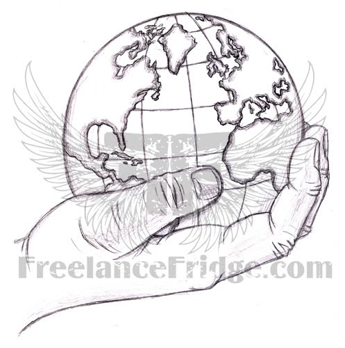 Visit tattoo design for World in hands tattoo