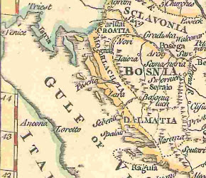 ANTIGUO MAPA DE CROACIA