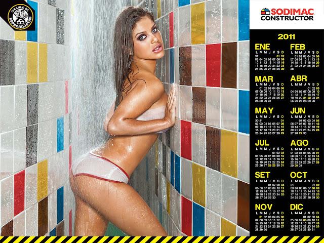 Chicas En Bikinis Vanessa Jeri Calendario Sodimac 2011