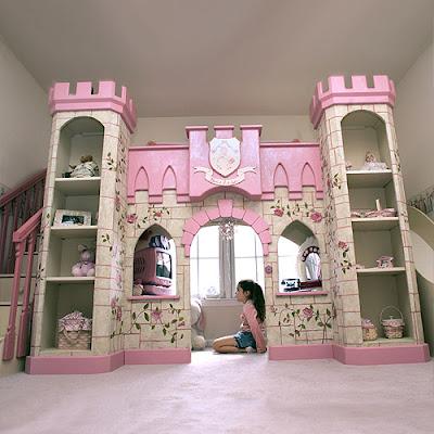 , A Dream Come True Loft Bed Castle Made For a Princess