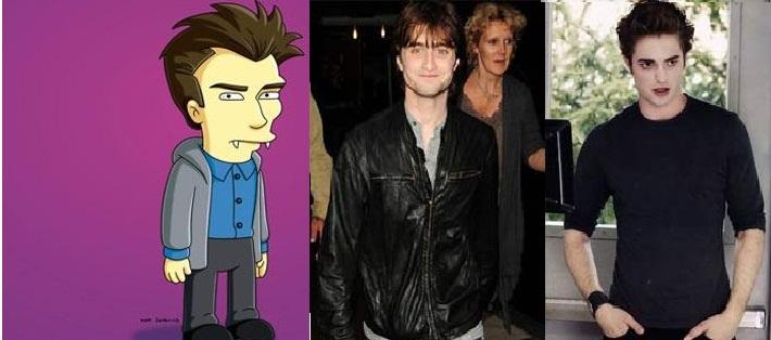 "Daniel Radcliffe vai ser Edward Cullen em episódio de ""Os Simpsons""!"