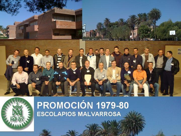 PROMOCIÓN 1979-80 ESCOLAPIOS MALVARROSA